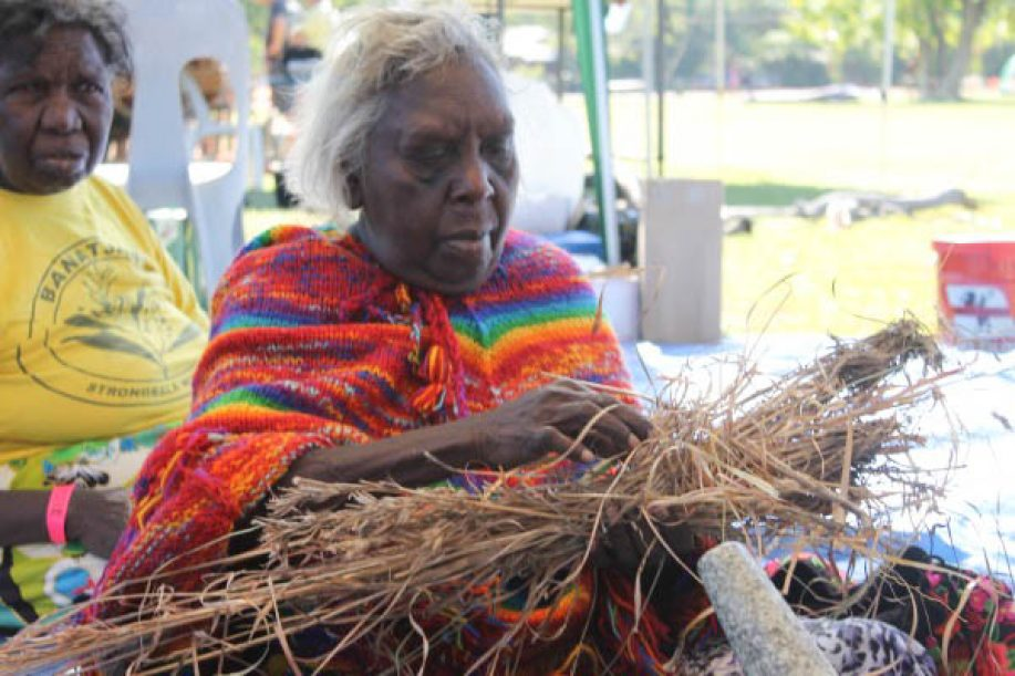 Traditional Aboriginal Basket Weaving : Barunga festival cultural work s caama radio